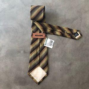 MISSONI Orange Label Mens Tie